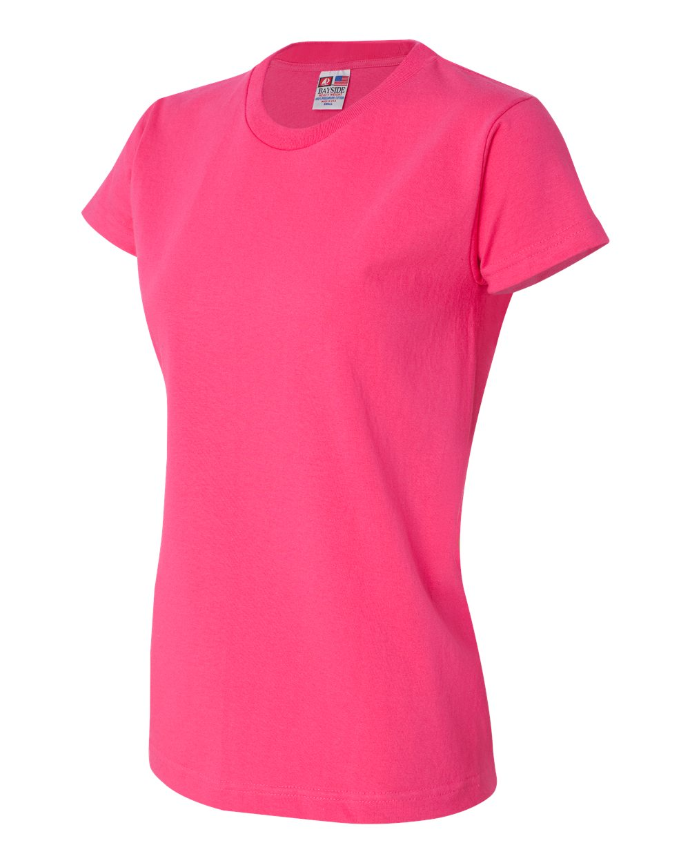 Bayside women 39 s short sleeve 3325 union made t shirts for Union made polo shirts